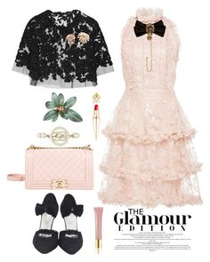 """""""#280"""" by thuhanguyen-1712 on Polyvore featuring Costarellos, Reem Acra, Christian Louboutin, Chanel, Dolce&Gabbana and AERIN"""