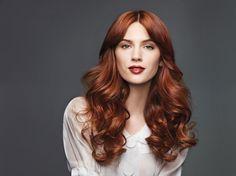 Radiant Red || Highlights: Redken Blonde Icing Power Lift + 20 vol. Blonde Icing Developer Base: Chromatics 5C 5.4 copper + 20 vol. Oil Cream Developer Midshaft and ends: Chromatics 6R 6.6 Red + 7C 7.4 copper + 30 vol. Oil Cream Developer