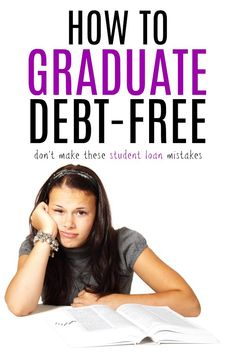 How to Graduate Debt Free and pay for college on your own Best Student Loans, Paying Off Student Loans, Student Loan Debt, Scholarships For College, Education College, Loans For Poor Credit, Student Loan Forgiveness, College Checklist, Saving For College