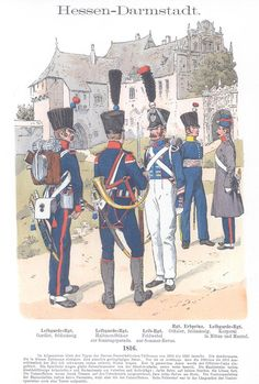 Band VIII #19.- Hessen-Darmstadt. Infanterie. 1816. Age Of Discovery, German Uniforms, Napoleonic Wars, Scandinavian, Old Things, Army, The Unit, Baseball Cards, Dutch