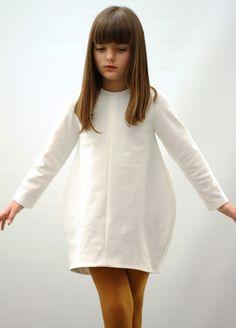 Balloon Dress White #motoreta #kids AW14 #lookbook