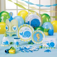 Whale of Fun 1st Birthday Deluxe Party Pack - perfect theme for parties at the beach