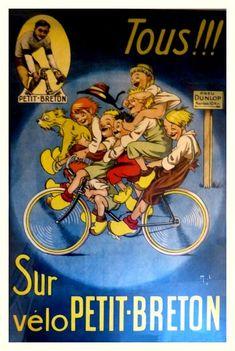 Velo Petit Breton ~ Mich (Michel Liebeaux)   #Bicycles #Breton #Bicyclette #Mich