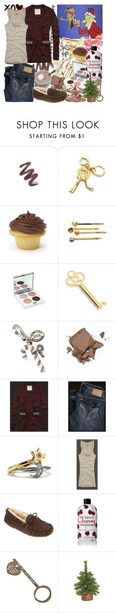 """the grinch & max(:"" by liiindseeey ❤ liked on Polyvore featuring Mary Kay, Juicy Couture, Stila, Benefit, Abercrombie & Fitch, Hollister Co., UGG Australia, philosophy, C.R.A.F.T. and red"