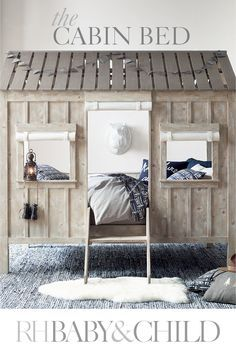 Charming detailing, board-and-batten design and kid-friendly scale distinguish our lofted bed. Not just a spot to sleep, it doubles as a fort, playhouse, or cabin in the woods for your little adventurer. Save 25 on everything with the RH Members Program.