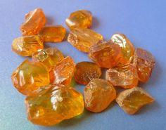 b8 Natural Cognac Honey Baltic Amber loose gem stone chips 16psc 17-18g 85 Cts