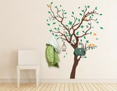 Fabulous Tree Hanger | Get this wonderful wall tattoo Fabulous Tree Hanger with leaves in any of our thirty beautiful colors. styleandapply.com offers you a great collection of decorative wall tattoos in the category FLORAL.