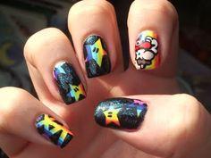 haha cute mario nails :)