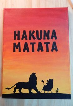 Hakuna Matata Lion King Silhouette - handmade canvas quote art Source by etsy Disney Canvas Paintings, Disney Canvas Art, Canvas Painting Quotes, Simple Canvas Paintings, Easy Canvas Art, Small Canvas Art, Mini Canvas Art, Easy Canvas Painting, Cute Paintings