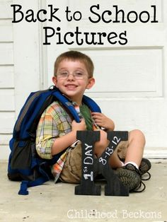 ThanksBack to School Pictures- A DIY photo prop and a look at the outtakes awesome pin