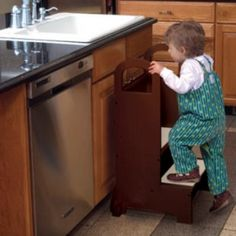 Kitchen helper stool. @Jim Schachterle Ledford another one for R