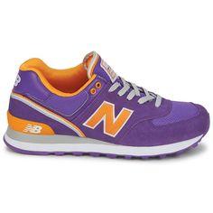 New Balance 574 Women's Purple Orange Wl574