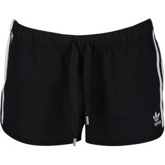 adidas Originals Trefoil Slim Shorts - Women's - Casual - Clothing -... ($25) ❤ liked on Polyvore featuring adidas originals