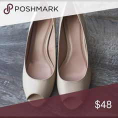 Tahari peep toe nude color heels shoes new Tahari peep toe nude color heels shoes new  brand new never worn size 9 m style Jayne Shoes