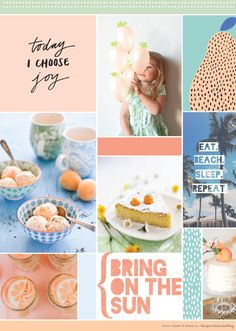 feeling peachy inspiration board | love print studio