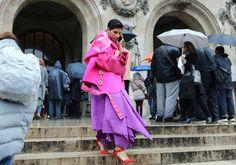 Best of Paris Street Style -  Princess Deena Aljuhani Abdulaziz in an Esteban Cortazar coat
