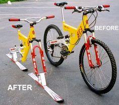 "Standard Skibike Conversion Kit for 26"" Mountain Bikes"