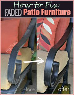 How to Fix Faded Aluminum Patio Furniture Using Just ONE Common Household Item – car wax Used Outdoor Furniture, Metal Patio Furniture, Rustic Furniture, Diy Furniture, Painting Furniture, Modern Furniture, Furniture Layout, Furniture Cleaner, Patio Furniture Makeover