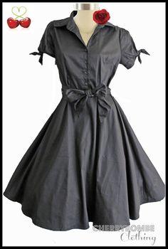 Vintage 50s Penelope Swing Dress Plus SZ 22 TIE Sleeves Rockabilly Pinup Wedding   eBay
