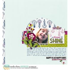 Chance to shine Positivity by ForeverJoy Designs http://the-lilypad.com/store/POSITIVITY-PAGE-KIT.html Fonts Lauren, Hokey Pokey Right Template by Sabrina's Creations