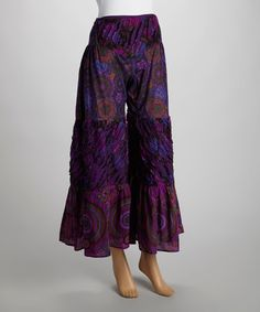 Another great find on #zulily! Purple Three-Panel Pants by The OM Company #zulilyfinds