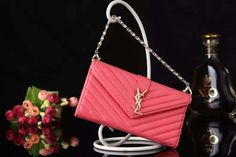 YSL iPhone6 Plus Leather Case Cover Wallet Bag Style Watermelon Red Free Shipping - Deluxeiphonecase.com