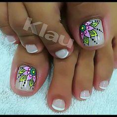 Pedicure Designs, Pedicure Nail Art, Toe Nail Designs, Toe Nail Art, Acrylic Nails, Pretty Toe Nails, Cute Toe Nails, Gorgeous Nails, Summer Toe Nails