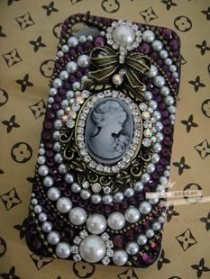 Cameo pearl alloy diy bling phone deco kit | chriszcoolstuff - Craft Supplies on ArtFire