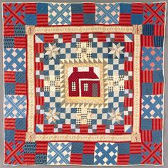 Quilt, 'House Medallion with Multiple Borders'   LACMA Collections