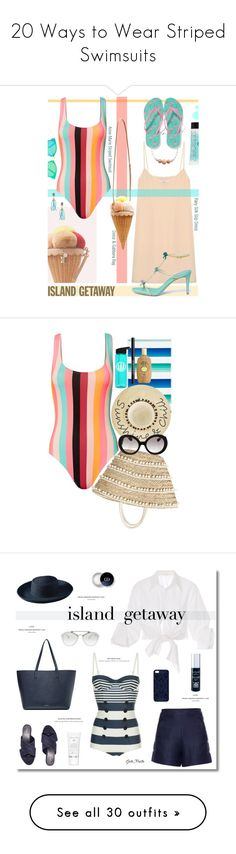 """""""20 Ways to Wear Striped Swimsuits"""" by polyvore-editorial ❤ liked on Polyvore featuring waystowear, stripedswimsuits, Raey, Dolce&Gabbana, Solid & Striped, René Caovilla, Floats, Antica Murrina, Old Navy and Bounkit"""