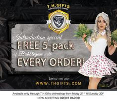 FREE 5-Pack of Bubblegum with EVERY ORDER at www.thgifts.com  + Free 2-Pack of Wreckage