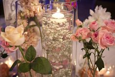 Submerged Baby's Breath wedding centerpiece by Vases Wild image by Fragile Works
