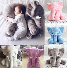 Long Nose Elephant Doll Pillow Soft Plush Stuff Toys Lumbar Pillow Baby Children #UnbrandedGeneric
