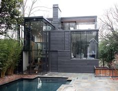 Glass House Addition to a 1910 historic house - architects Brian Bell and David Yocum of BLDGS