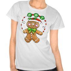 Joyous Gingerbread Man Tees