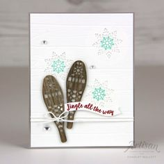 Alpine Adventure of Christmas Sled, Christmas Arts And Crafts, Xmas, Stamped Christmas Cards, Stampin Up Christmas, Alpine Adventure, Jingle All The Way, Winter Cards, Card Making Inspiration