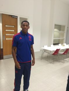Anthony Martial at Carrington Anthony Martial, Wayne Rooney, Manchester United Football, Best Club, Best Player, Football Team, Polo Ralph Lauren, The Unit, Album