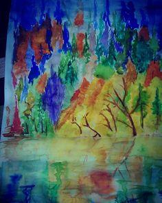 #شخبطه #الوان #mix #colors #watercolor #watercolour #paint #painting #drawings #pinceldrawing #mixing #illustration #illustrations
