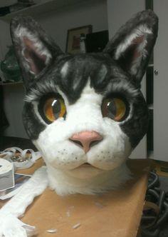 Image result for papier mache owl cat head