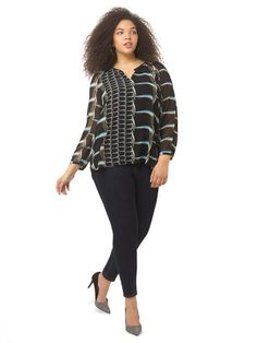 Plus Size NIC+ZOE On The Edge Top