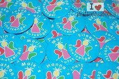 10+x+Schutzengel+mit+Namen+Button+Gastgeschenk+von+Buttons&Books+auf+DaWanda.com