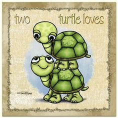 Animal Canvas Wall Art - Two Turtles Turtle Quotes, Cute Turtles, Sea Turtles, Turtle Time, Turtle Crafts, Tortoise Turtle, Tortoises, Baby Art, Art Wall Kids
