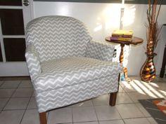 New gray/white chevron chair! :)