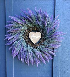 Lavender Love Wreath / Lavender Wreath / Spring by SouleHomeDecor