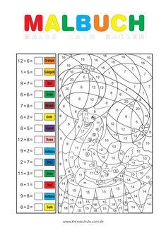 Malen nach Zahlen - Addieren und subtrahieren im Zahlenraum 20 ...