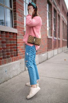 Favorite Sweater for Spring / Glitter & Gingham