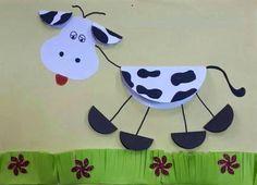Аппликация корова из бумаги - Сайт для мам малышей