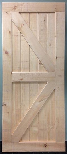 "Announcing the QUICK SHIP (leaves our shop in just 2 days) Complete Kit with Pine Door AND 72"""" Sliding Barn Door Hardware for one low price! Kit has standard hangers and door is standard 36"""" x 84"""""