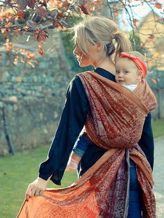Dryad Fall Baby Wrap by Oscha Slings