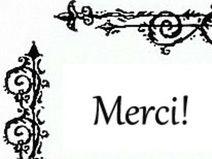 100 MERCI Handmade Filigree Mini Dankeskarten
